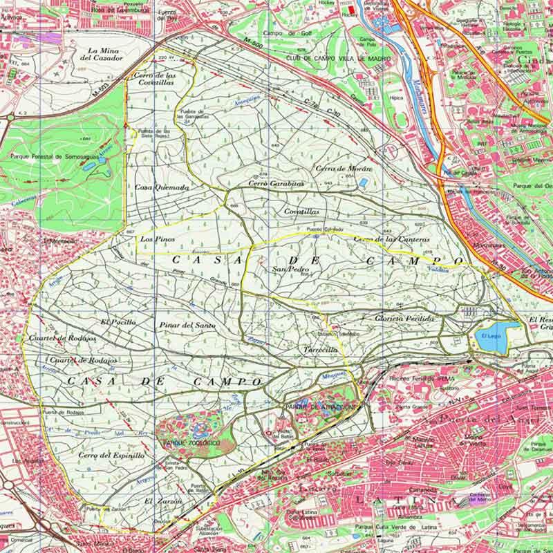 Casa de campo - Mapa de la casa de campo ...